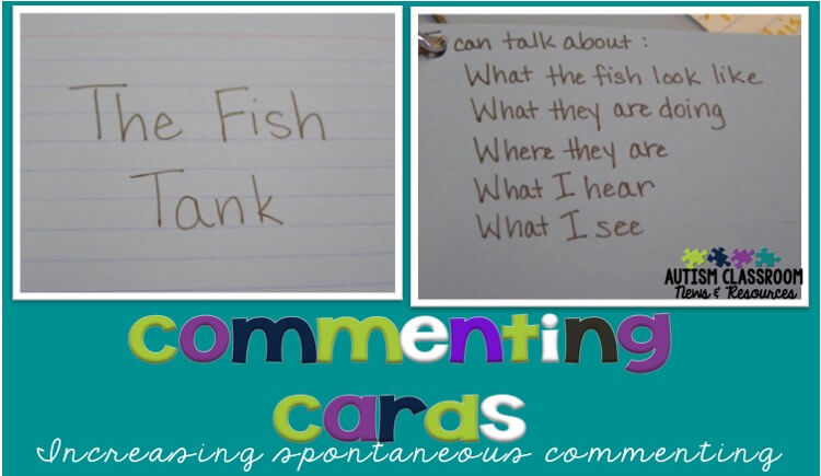 Making the jump from commenting in situations teachers set up to spontaneous commenting throughout the day is a tough one for many students with autism.  This post has suggestions to increase commenting and generalize it so that it becomes a meaningful method of communication for our students.
