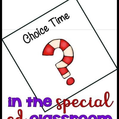 How to Create a Choice Time in Your Special Ed. Schedule