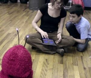 Aubrey and Ian with Romibo