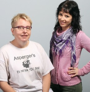 Iris Gray, left, and Rose Guedes say being diagnosed with Asperger's has helped them cope with the syndrome.  Photograph by: ADRIAN LAM, Times Colonist