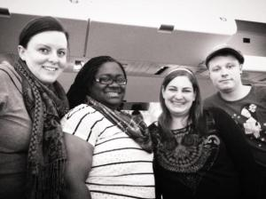 Kitti Robinson (Training Coordinator), Katrina Walker (ABA Therapist), Melissa Diamond (Founder and Director), Daniel Johnson (ABA Therapist) (left to right) CC by The Jenin Autism Project