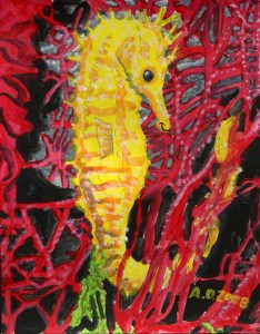 'Sea Horse' copyright 'The Art of Autism'
