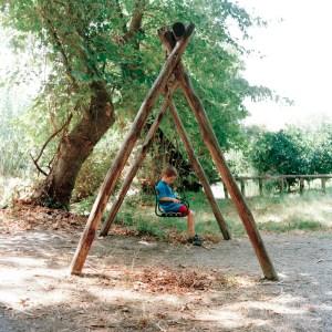 Stanley on swing, copyright Rosie Barnes