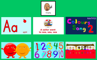 Interactive singing choice board