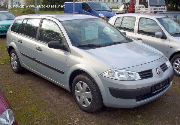 2005 Renault Megane Ii Grandtour 1 5 Dci 106 Hp Technical Specs Data Fuel Consumption Dimensions