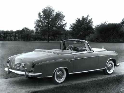 Mercedes-Benz Ponton 220S cabriolet (W180) 1956-1959 vue AR