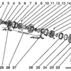 wałek górny biegi wsteczny i 3,4