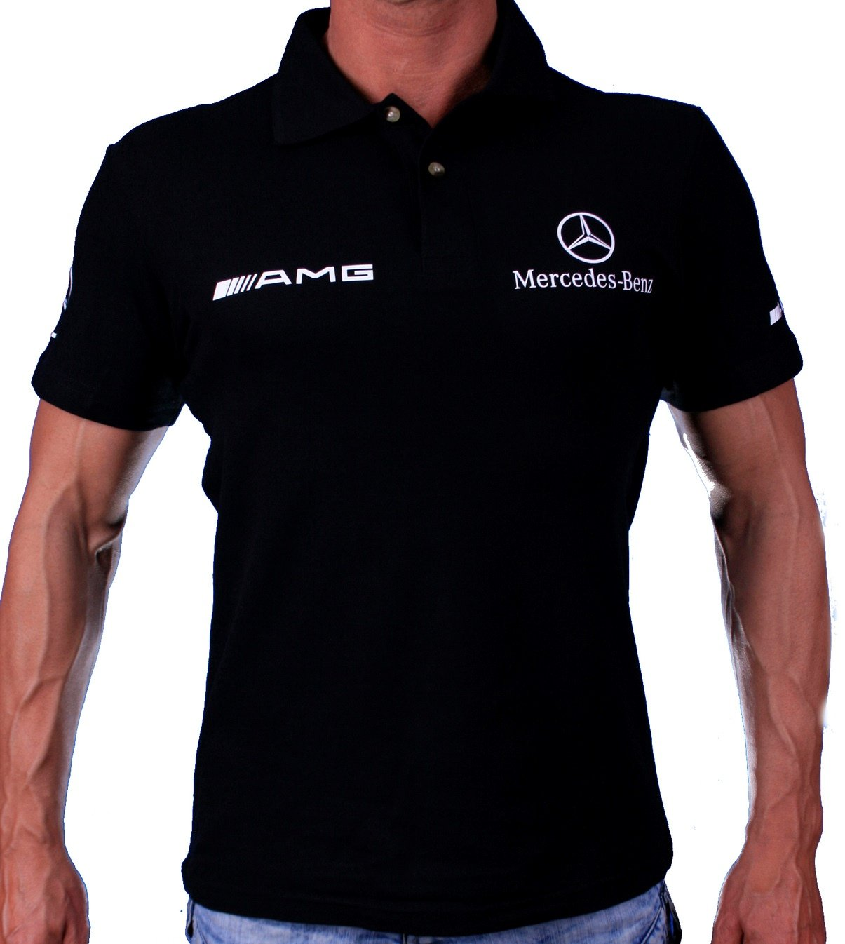 mercedes benz amg polo shirt hand crafted by auto moto fans. Black Bedroom Furniture Sets. Home Design Ideas