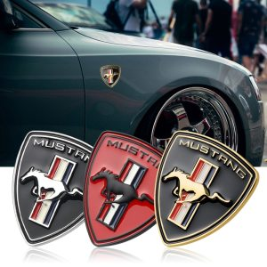 Nouveau-3D-Metal-Chrome-Car-Styling-Running-Horse-Emblem-Badge-For-Ford-Mustang-Shelby-GT-fender