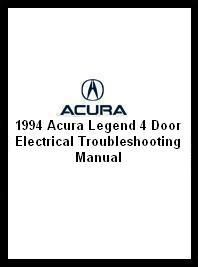 1994 Acura Legend 4 Door Electrical Troubleshooting Manual