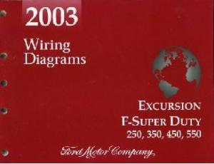 2003 Ford Excursion, F250, F350, F450, F550 & FSuper Duty Truck  Wiring Diagrams