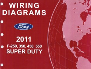 2011 Ford F250, 350, 450 & 550 Truck Factory Wiring Diagrams