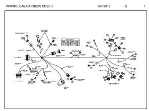 Peterbilt Cab Harness  Connector Schematic for models