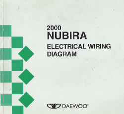 2000 Daewoo Nubira Factory Wiring Diagram Manual