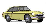 MG B GT Primerose