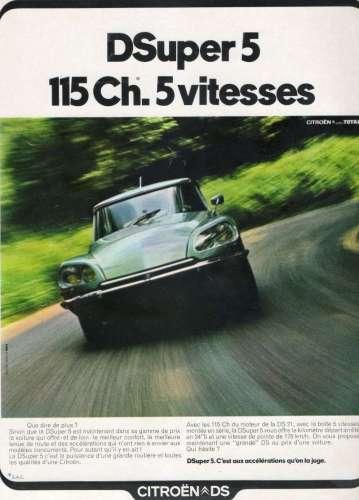 pub ds11 359x500 Citroën DSuper 5 1972