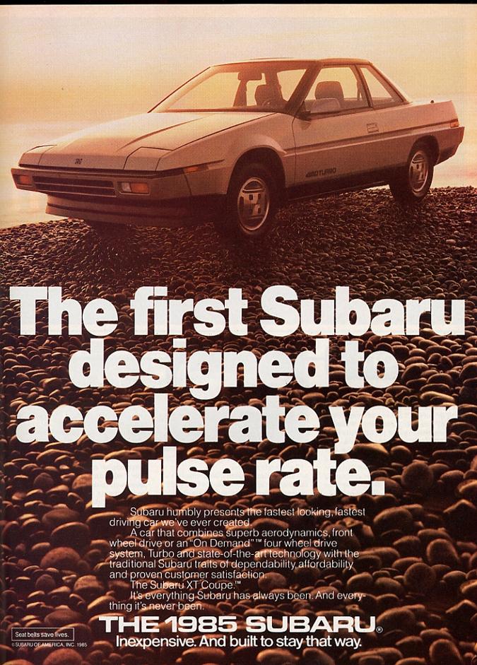 Subaru XT ad classic