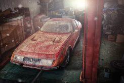 Ferrari-365-GTB4-Daytona-Aluminium Sortie de grange