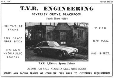 TVR SPORTS SALOON 1954