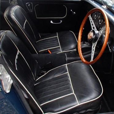 Housses sièges Midget MKI noir blanc