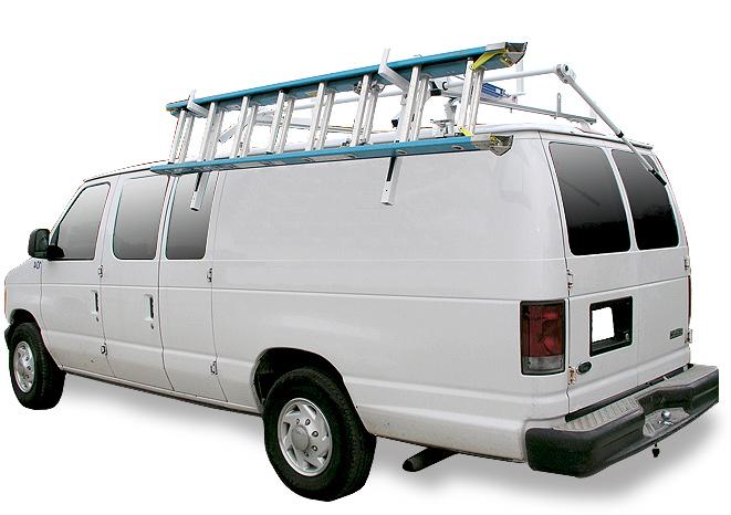 hauler racks van drop down ladder rack
