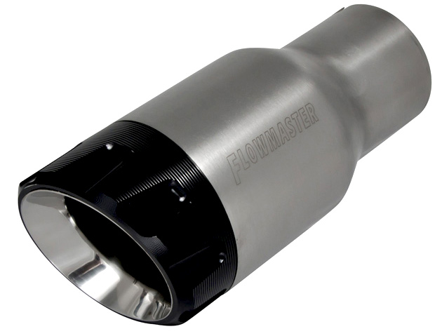 flowmaster angle cut round exhaust tip 15316