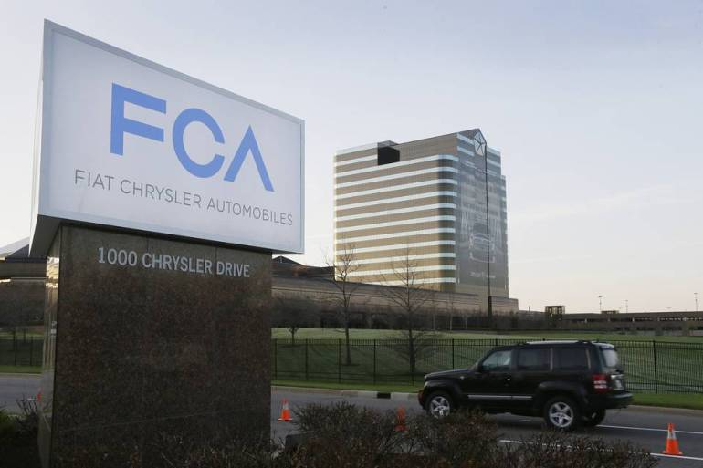 Fiat Chrysler Automobiles world headquarters in Auburn Hills, Mich.