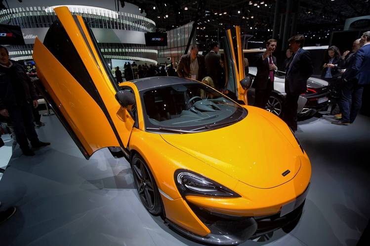 McLaren's 570S sports car has an ultralight, carbon-fiber chassis.