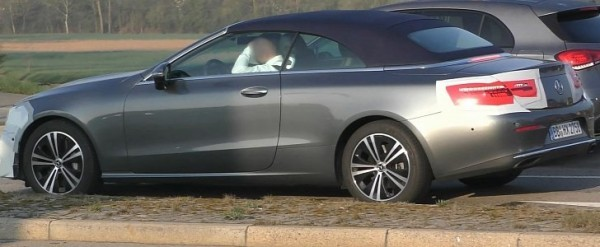 Mercedes E-Class Cabrio Spied Testing With Mild Facelift