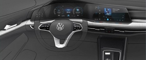 2020 VW Golf 8 Interior and Exterior Sketches Are Very Revealing