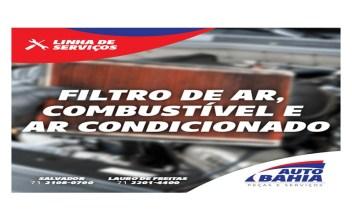 Filtro de ar, Combustível e Ar condicionado