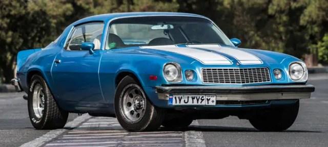 blue Iranian Camaro