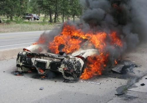 Ferrari Enzo on Fire