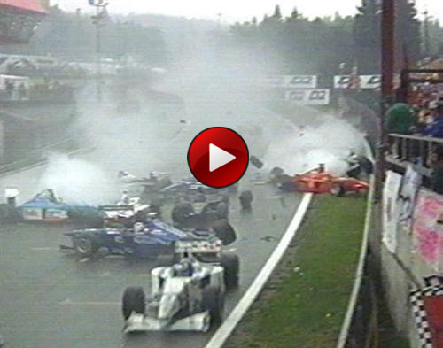 Belgian Grand Prix 1998 crash