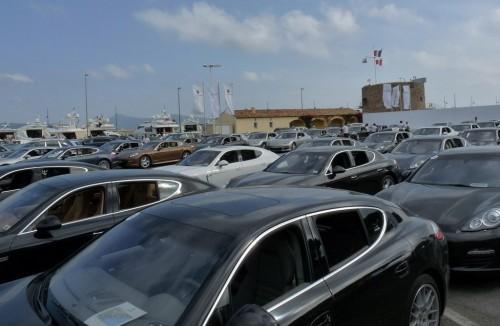 Porsche Panamera in Saint-Tropez