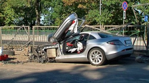 mclaren mercedes slr crash in poland