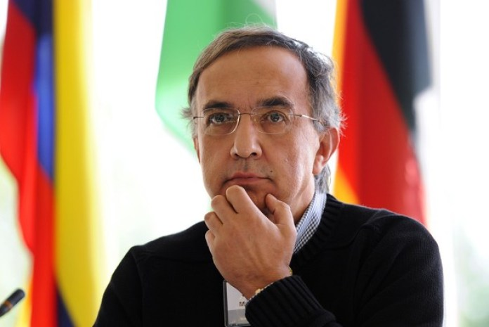 Sergio Marchionne, chief executive officer of Fiat and marquee speaker reacts during the Spruce Meadows Changing Fortunes Round Table on business in Calgary