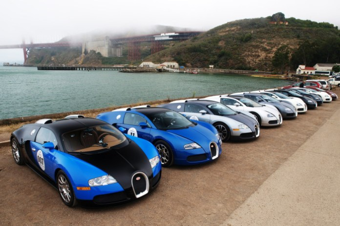 Bugatti Veyron meeting at San Francisco