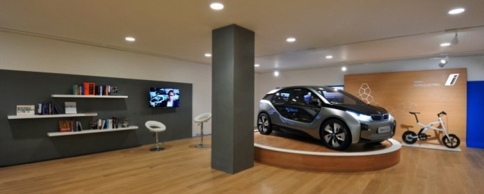 World first BMW i Store - BMW i Park Lane, London