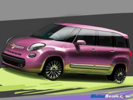Fiat 500XL Rendering