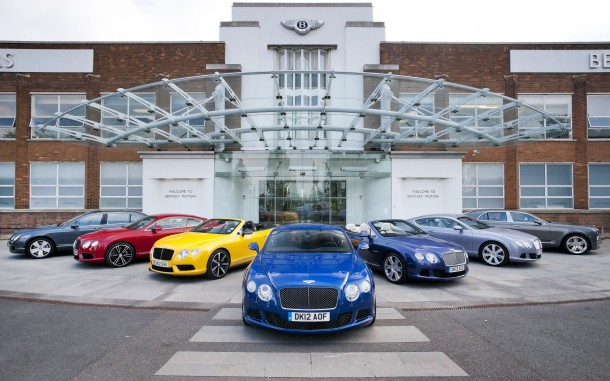 The Bentley model range