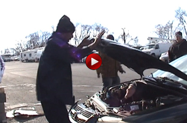 Kid Gets Head Smashed by Car Hood