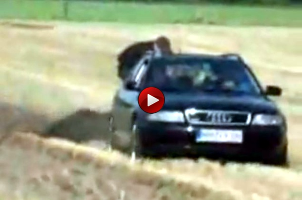 Plowing with an Audi Quattro