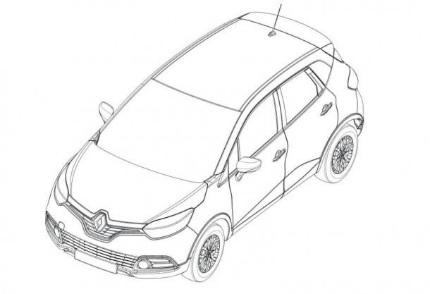Renault Captur 2013 design sketches (1)