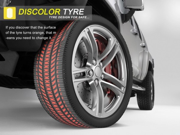 Discolor Tyre Concept