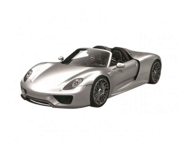 Porsche 918 Spyder production version trademark design sketches (1)