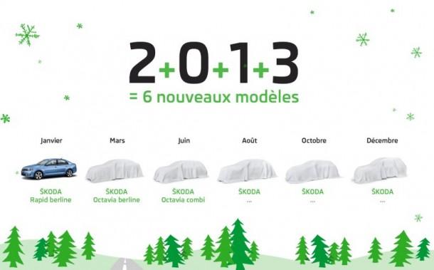 Skoda 6 model in 2013 teaser