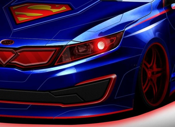 Superman-inspired Kia Optima Hybrid teaser