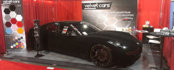 velvet car wrap at SEMA 2012