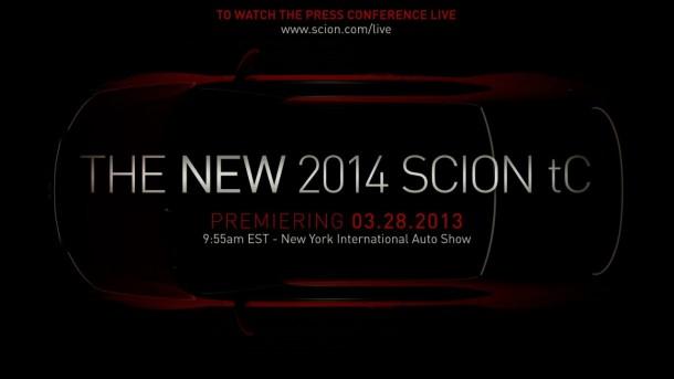 2014 Scion tC teaser image